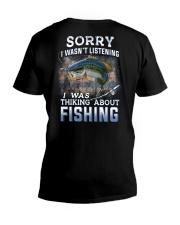 Fishing-thinking about V-Neck T-Shirt thumbnail