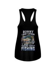 Fishing-thinking about Ladies Flowy Tank thumbnail
