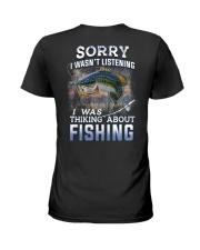 Fishing-thinking about Ladies T-Shirt thumbnail