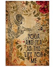 Poster Yoga yoga and tea 24x36 Poster front