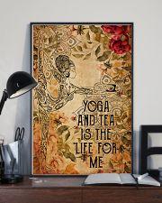 Poster Yoga yoga and tea 24x36 Poster lifestyle-poster-2