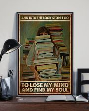 Poster Book into the bookstore i go 24x36 Poster lifestyle-poster-2
