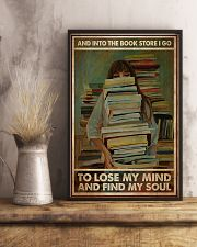 Poster Book into the bookstore i go 24x36 Poster lifestyle-poster-3