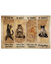 Poster cat be strong everyday 36x24 Poster front