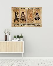 Poster cat be strong everyday 36x24 Poster poster-landscape-36x24-lifestyle-01