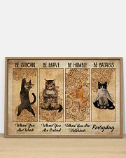 Poster cat be strong everyday 36x24 Poster poster-landscape-36x24-lifestyle-03