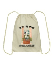Dogs lucky are those Drawstring Bag thumbnail