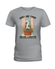 Dogs lucky are those Ladies T-Shirt thumbnail