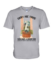 Dogs lucky are those V-Neck T-Shirt thumbnail