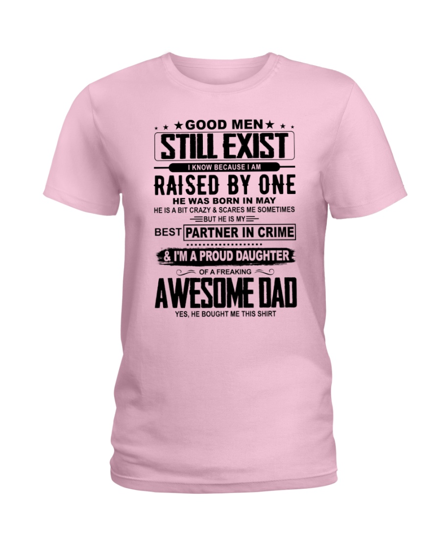 May Awesome Dad Ladies T-Shirt