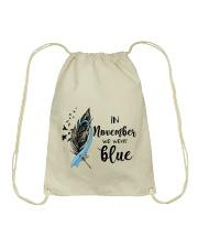 november blue Drawstring Bag thumbnail