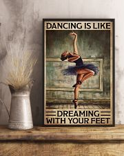 Poster Ballet dancing is like dreaming 24x36 Poster lifestyle-poster-3