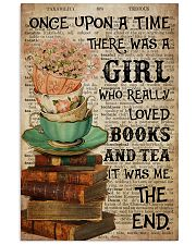 Poster Book really love books and tea 24x36 Poster front