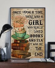 Poster Book really love books and tea 24x36 Poster lifestyle-poster-2