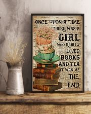 Poster Book really love books and tea 24x36 Poster lifestyle-poster-3