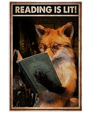 Poster Book reading is lit 24x36 Poster front