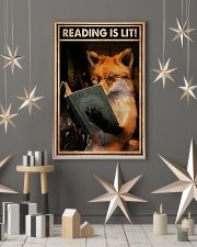 Poster Book reading is lit 24x36 Poster lifestyle-holiday-poster-1