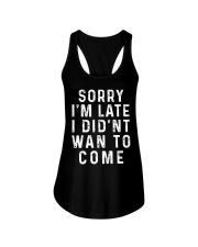 Sorry I'm Late Ladies Flowy Tank tile
