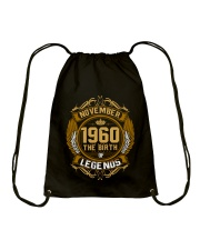 November 1960 The Birth of Legends Drawstring Bag thumbnail