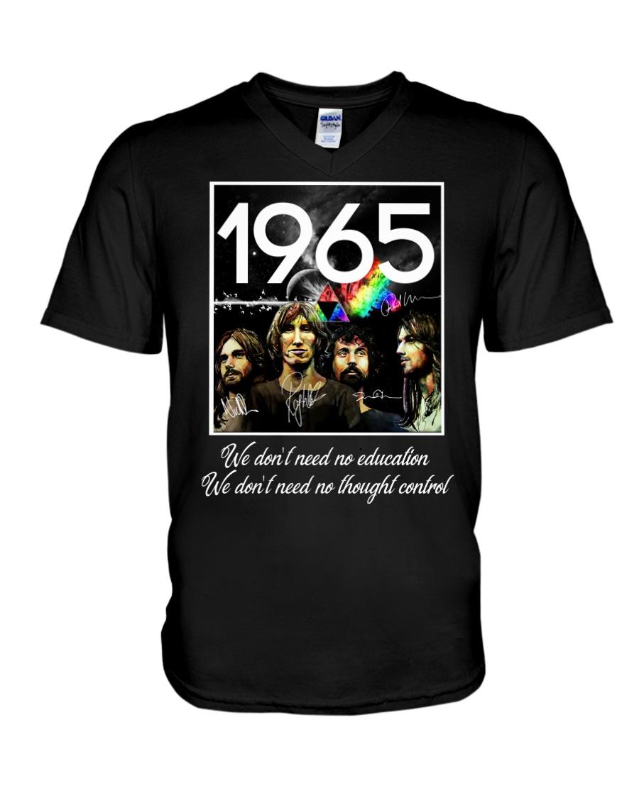 1965 Pink F V-Neck T-Shirt