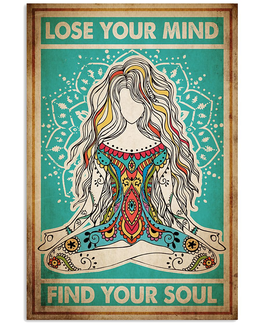 Poster Yoga lose your mind 24x36 Poster