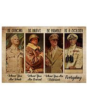 Poster Veteran be strong everyday 36x24 Poster front