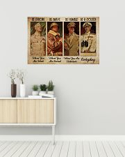 Poster Veteran be strong everyday 36x24 Poster poster-landscape-36x24-lifestyle-01