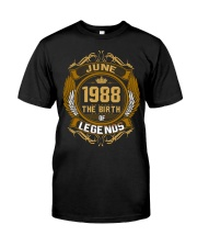 June 1988 The Birth of Legends Classic T-Shirt front