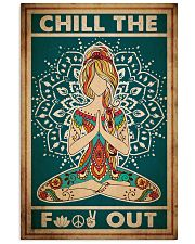 Poster Yoga chill out 24x36 Poster front