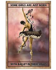 Poster Ballet some girl are just born 24x36 Poster front
