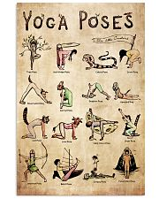 Poster Yoga 16 poses 24x36 Poster front