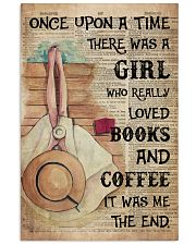 Poster Book girl love book and coffee the end 24x36 Poster front