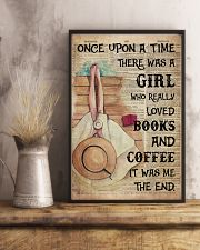 Poster Book girl love book and coffee the end 24x36 Poster lifestyle-poster-3