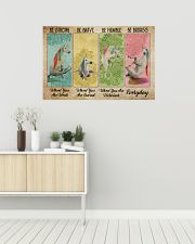 Poster unicorn be strong everyday 36x24 Poster poster-landscape-36x24-lifestyle-01