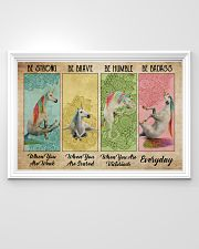 Poster unicorn be strong everyday 36x24 Poster poster-landscape-36x24-lifestyle-02