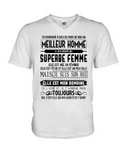 fevrier meillieur homme V-Neck T-Shirt thumbnail