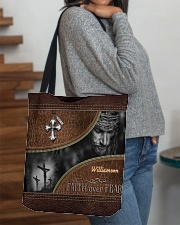 Collection Faith Over Fear Custom Name All-over Tote aos-all-over-tote-lifestyle-front-09