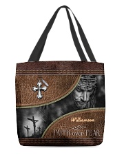 Collection Faith Over Fear Custom Name All-over Tote back