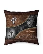 "Collection Faith Over Fear Custom Name Indoor Pillow - 16"" x 16"" thumbnail"