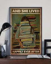 Poster Book and she lives happy girl 24x36 Poster lifestyle-poster-2