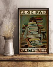 Poster Book and she lives happy girl 24x36 Poster lifestyle-poster-3