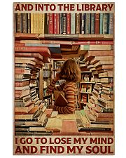 Poster Book and into the library 24x36 Poster front
