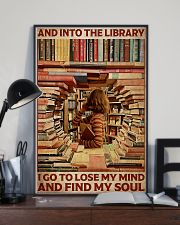 Poster Book and into the library 24x36 Poster lifestyle-poster-2