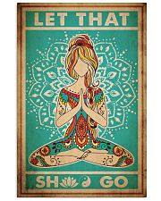 Poster Yoga let that go 24x36 Poster front