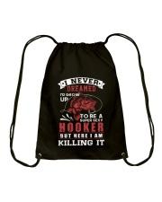 hooker-killing it Drawstring Bag thumbnail