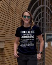 Octubre chica de hechos Ladies T-Shirt lifestyle-women-crewneck-front-2