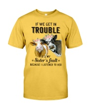 If we get in trouble cow Classic T-Shirt thumbnail