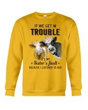 If we get in trouble cow Crewneck Sweatshirt thumbnail