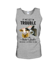If we get in trouble cow Unisex Tank thumbnail