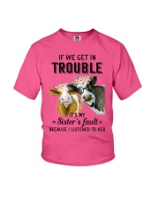 If we get in trouble cow Youth T-Shirt thumbnail